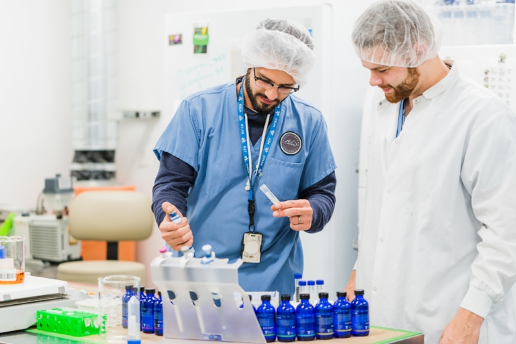 Caliva extraction technicians use state-of-the-art technology to create ideal cannabis oil formulations.