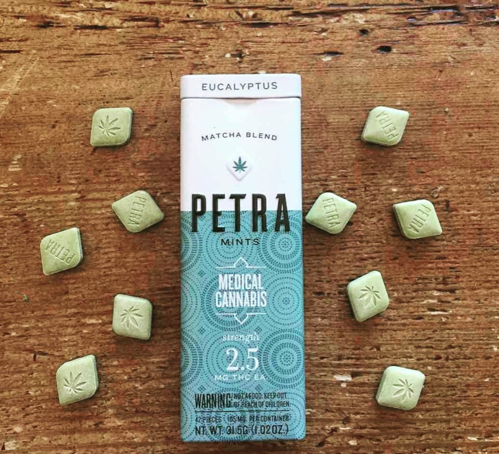 The Kiva Petra Mint is the ultimate in discrete cannabis use. Not only does it give you a mild buzz, it also freshens your breath!