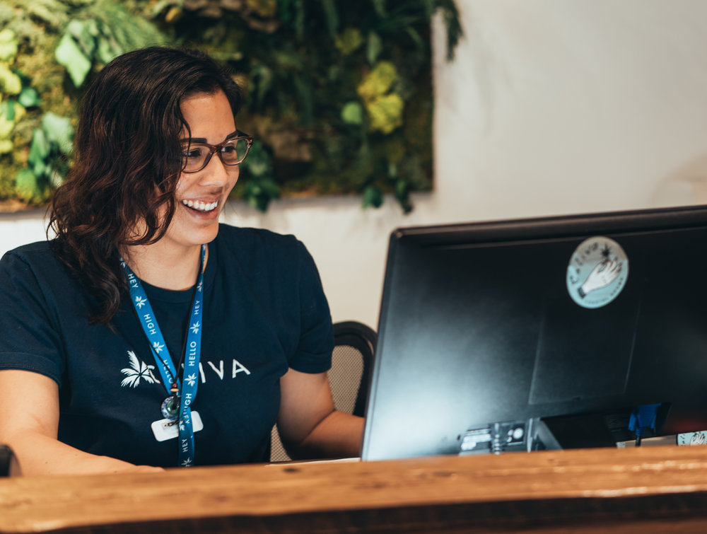Check-In With Reception - Our friendly front-desk staff will immediately make you feel part of the Caliva family. We'll just ask for your ID and sign you up with the Caliva collective.Want to join the collective before you visit? Easy! Just join online. JOIN COLLECTIVE