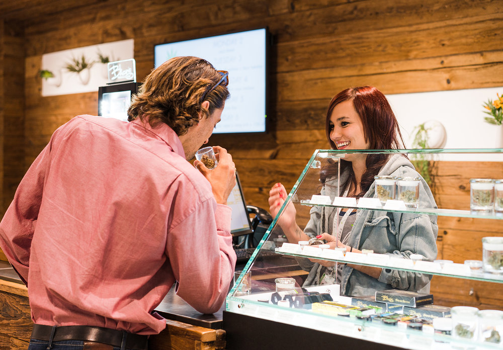 Shop With a Friendly Budtender - Never think of the smiling person standing behind the glass case as a mere clerk. Caliva budtenders are your shopping ally. Not only do they know the best products and biggest deals, they can advise which products may be best depending on the wellness solution you're looking for.Want to browse our products online first? Hop onto our digital menu—we even have budtenders who can help you there too! Shop Menu