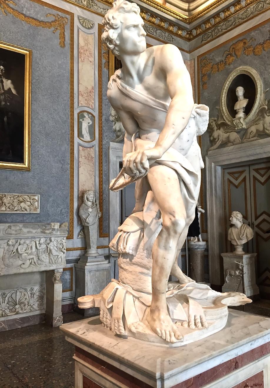 Galleria Borghese il  David  di  Gian Lorenzo Bernini