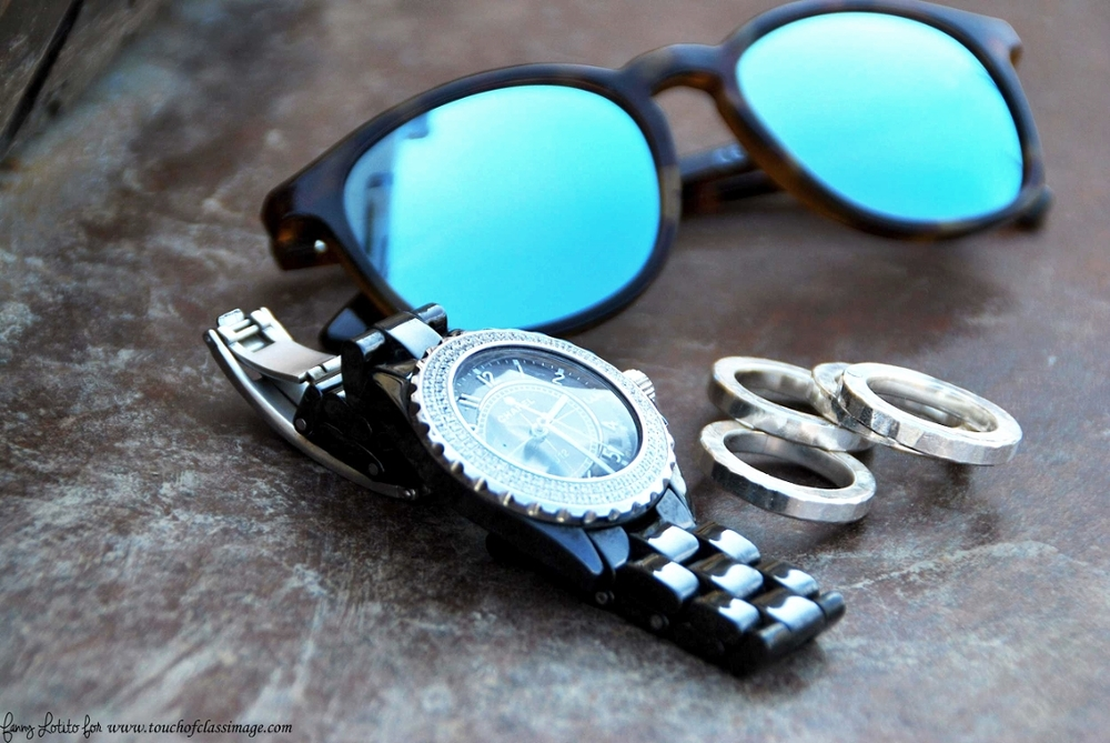 Mr. Boho sunglasses and J12 Chanel watch