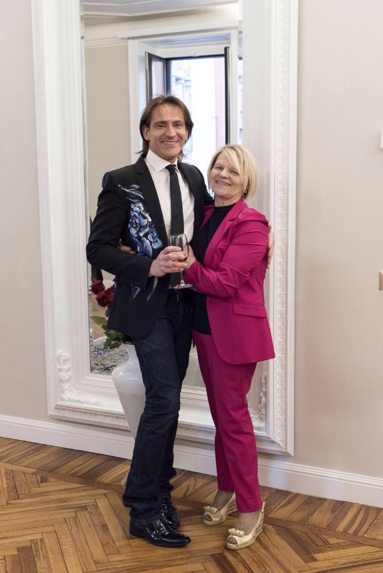 Pierre Prandini con Marisa