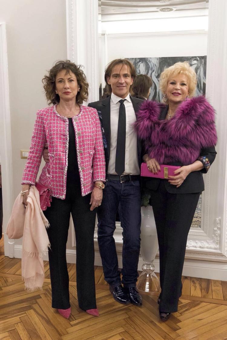Pierre Prandini con Marinella di Capua e Mihal Alzaraki