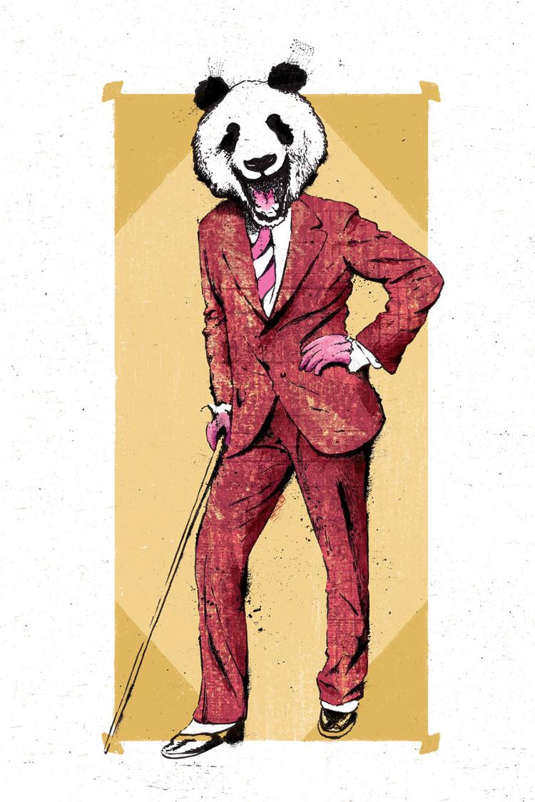 hey there panda bear boxing bear print co