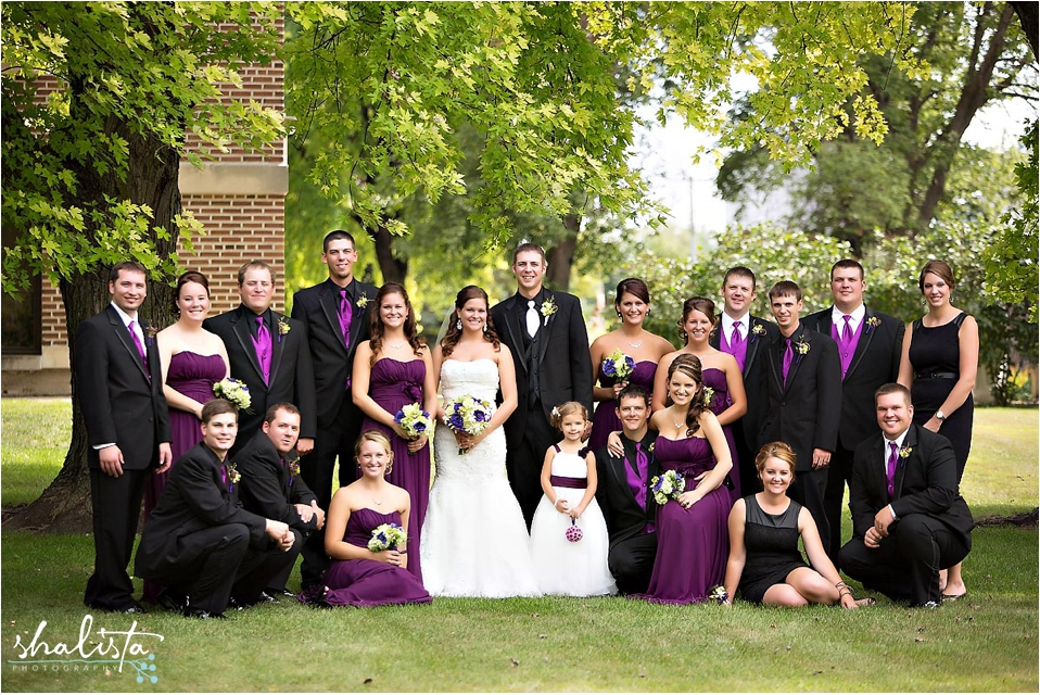 Large Bridal Party Photo