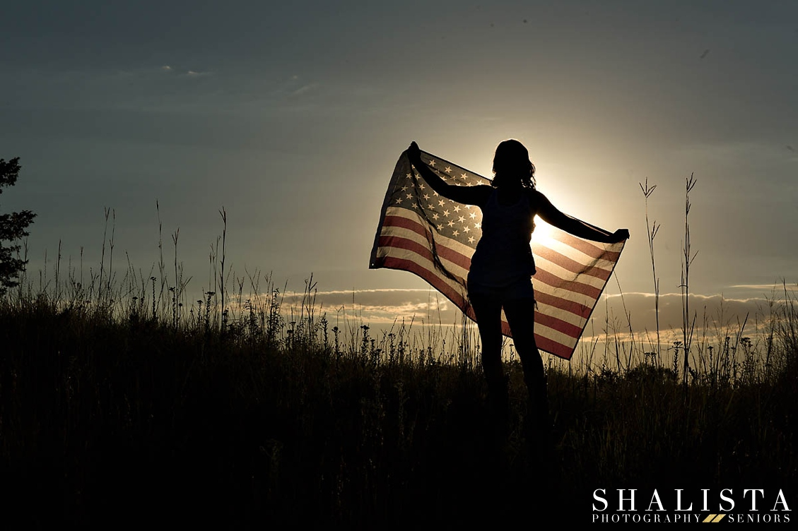 Senior Portraits American Flag