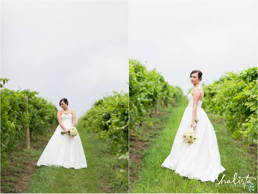bride in wine