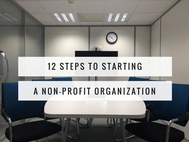 12 Steps To Starting A Non Profit Organization Wodline Hippolyte