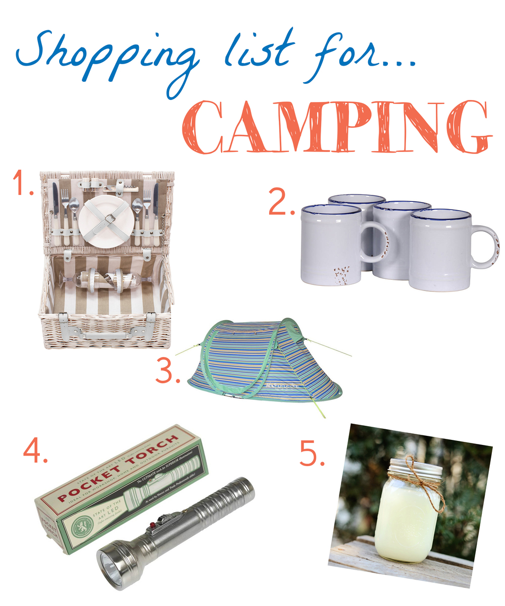 Shopping List for Camping