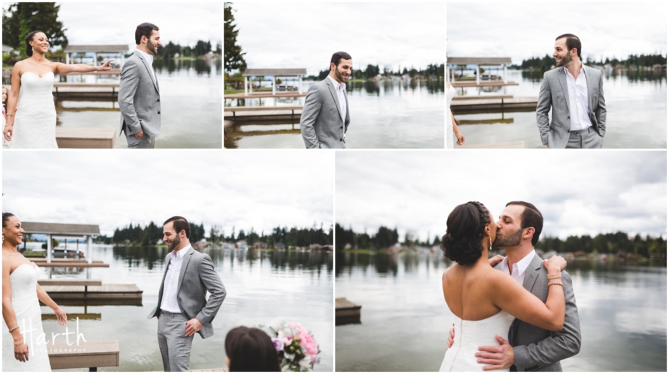 First look at lake side wedding - Harth Photography