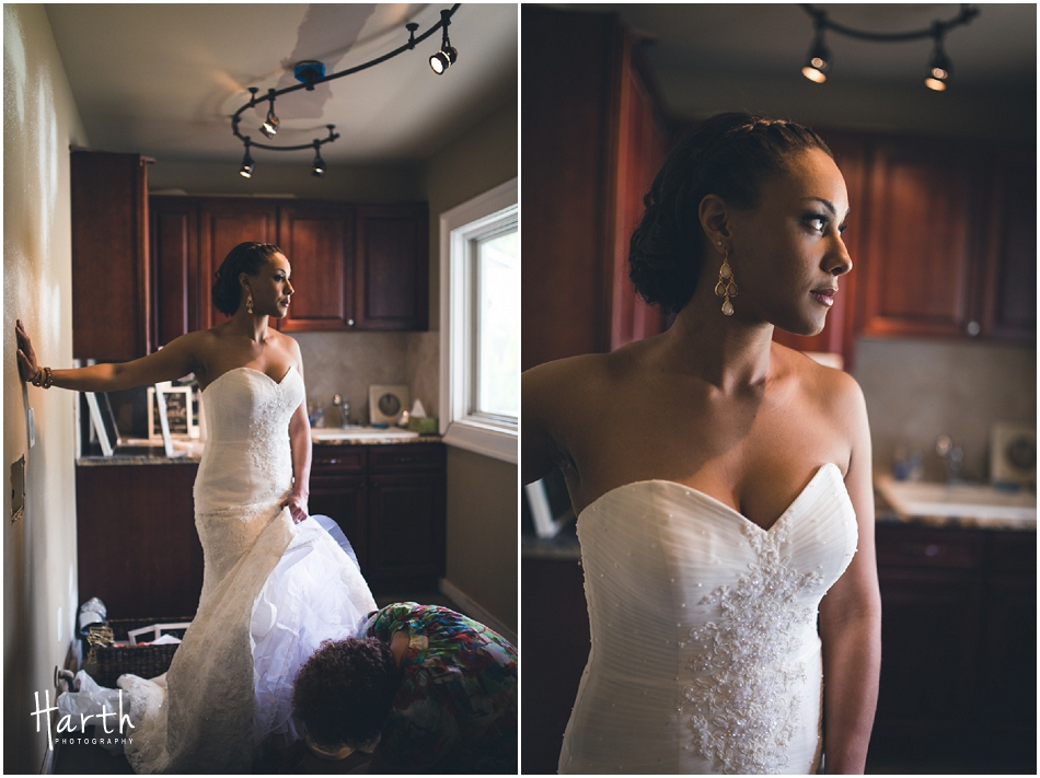 Bride in her dress - Harth Photography