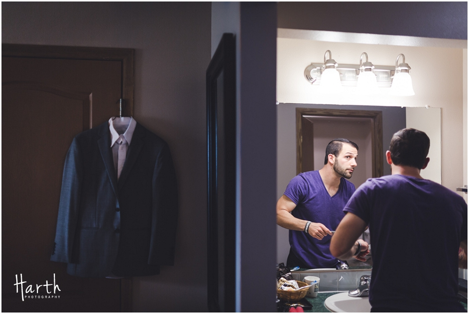 Groom Getting Ready - Harth Photography