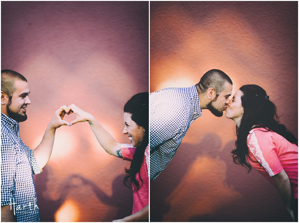 Making Hearts Engagement | Harth Photography