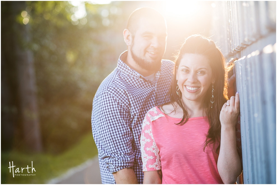 Sun Flare Engagement | Harth Photography