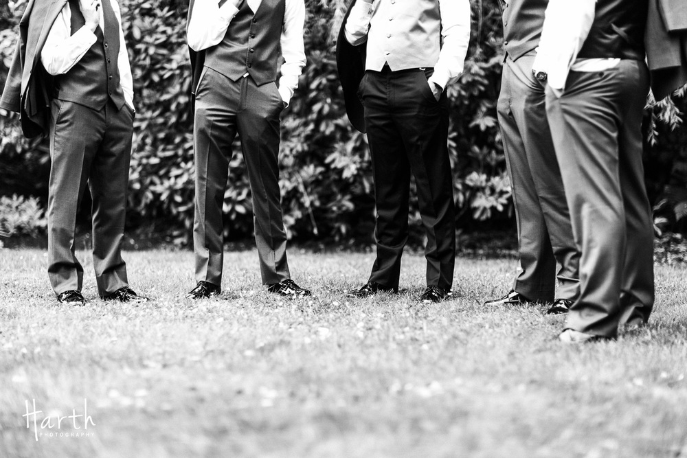 Wedding Groomsmen Black and White