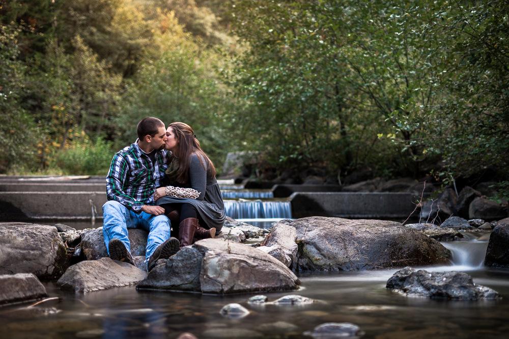 Big Creek Cle Elum Engagement - Long Exposure