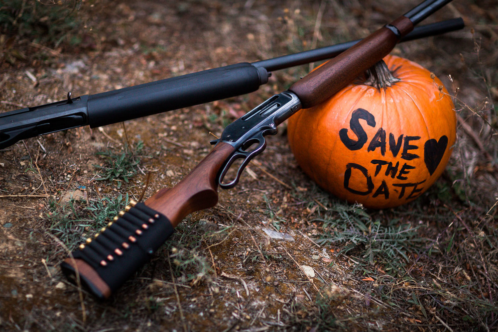 Guns Hunting Save The Date Cle Elum Engagement