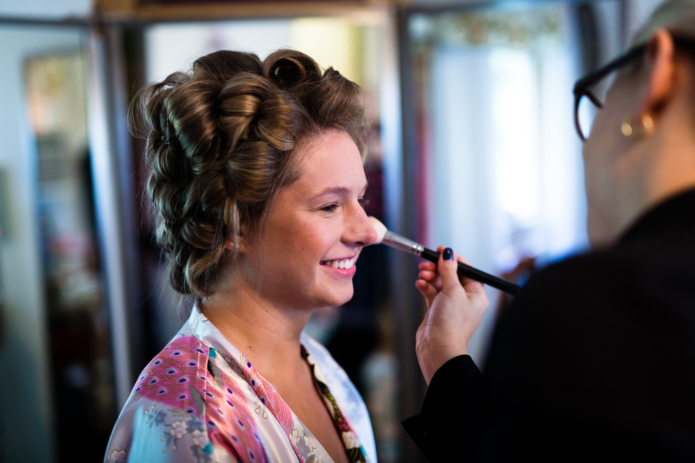 Makeup with Bride in Snohomish