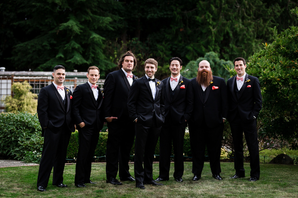 Groomsmen Group Photo - Snohomish