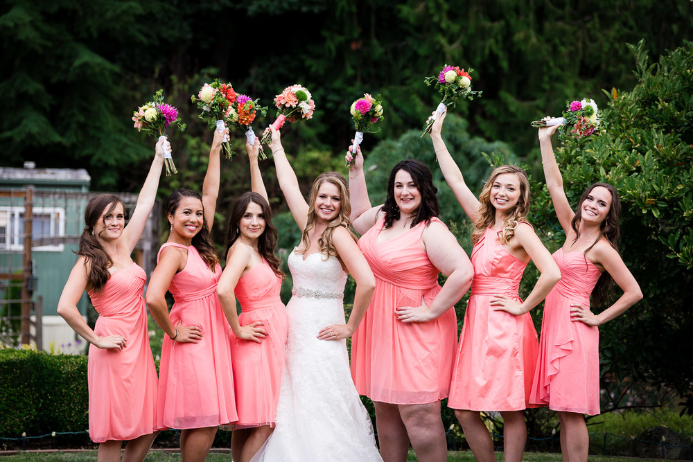 Bridesmaids Group Photo - Snohomish