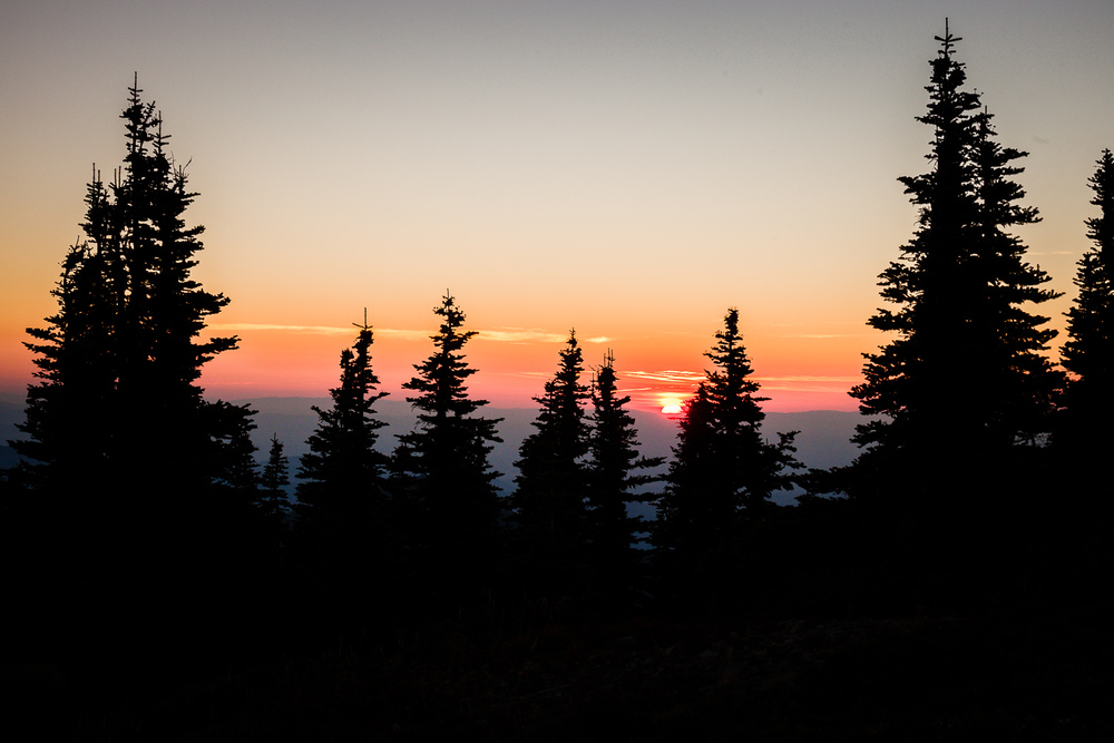 Mt. Rainier Sunset - Tolmie Peak Hike