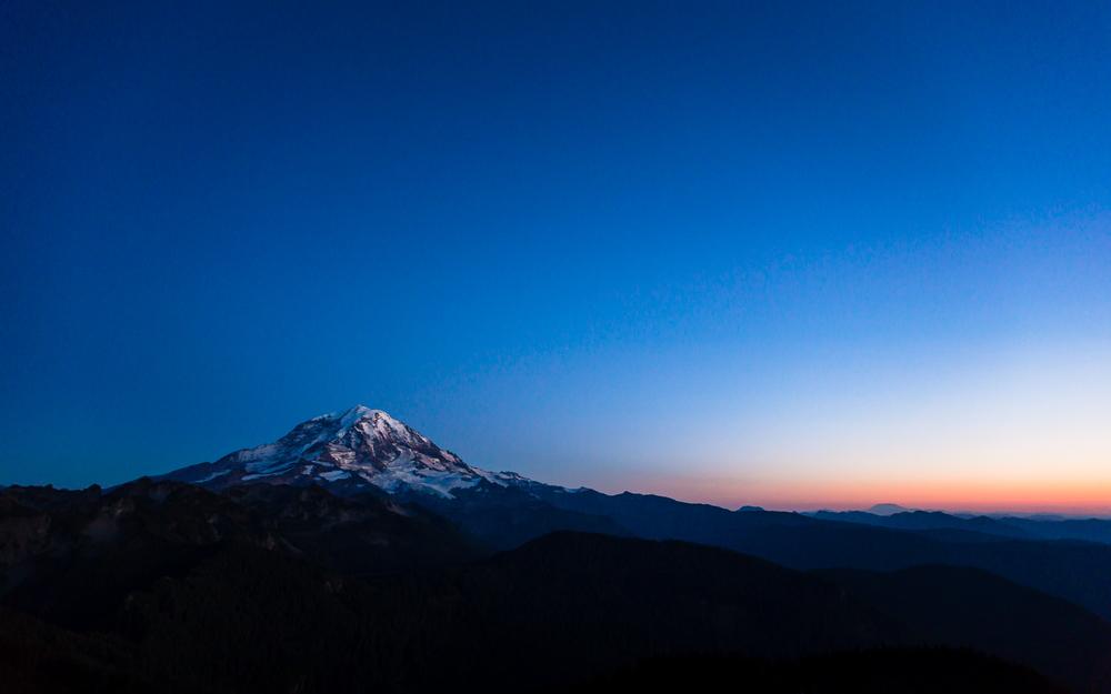 Mt. Rainier Sunset - Tolmie Peak Hike View