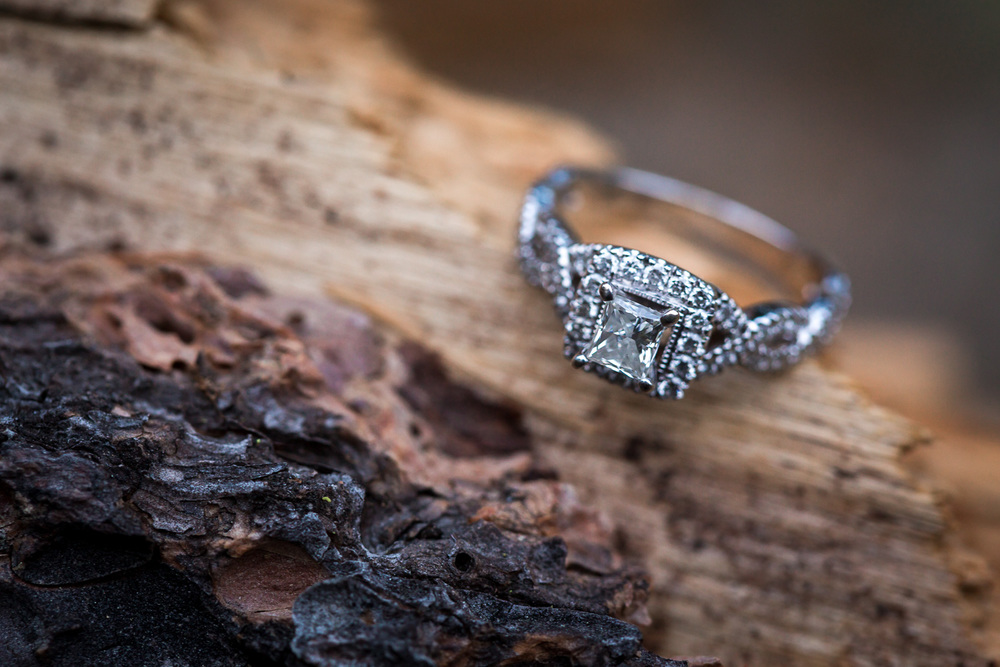 Wooden Wedding Engagement Ring