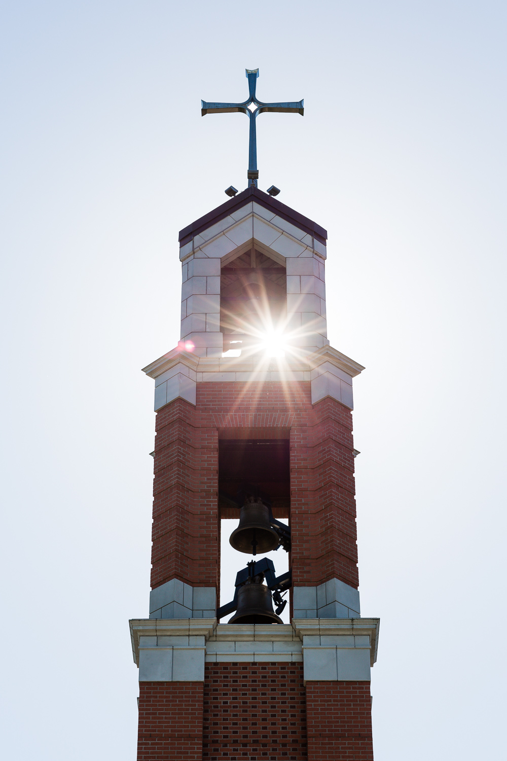 Sunflare Bell Tower Chapel