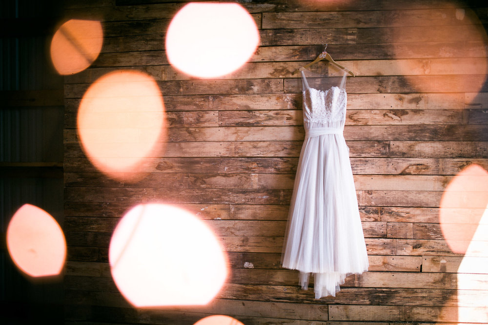 Bokeh Seattle Wedding Dress