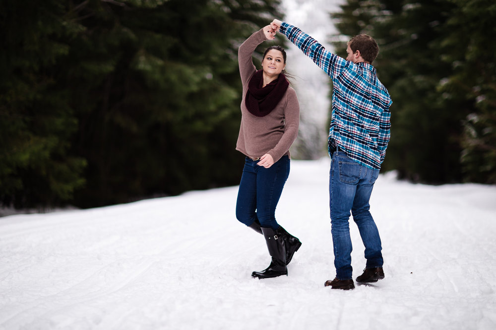 Fun In The Snow Engagement