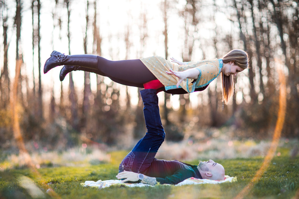 Yoga Engagement Photography