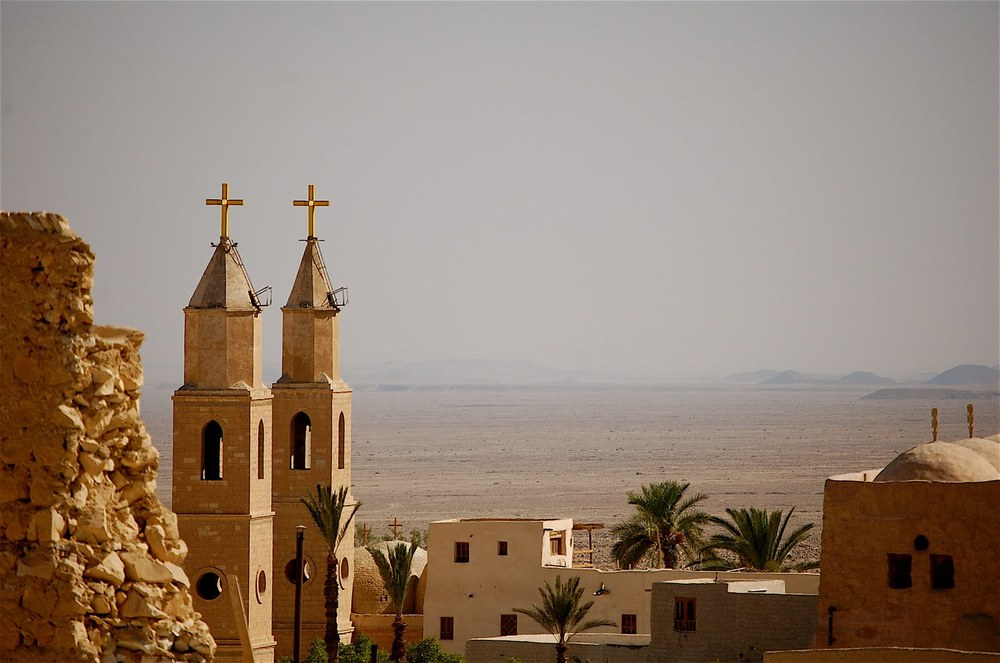 Another view of the monastery with the desert beyond. (Photo by author)