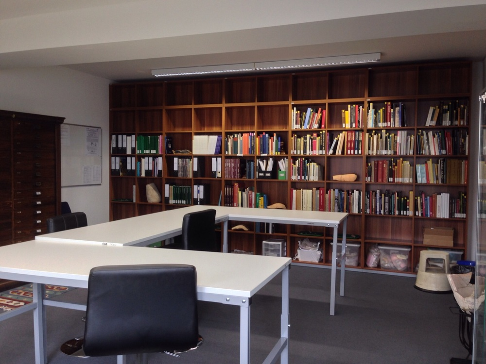 The library of the Islamic Archeology Lab. An impressive, and still-growing collection.