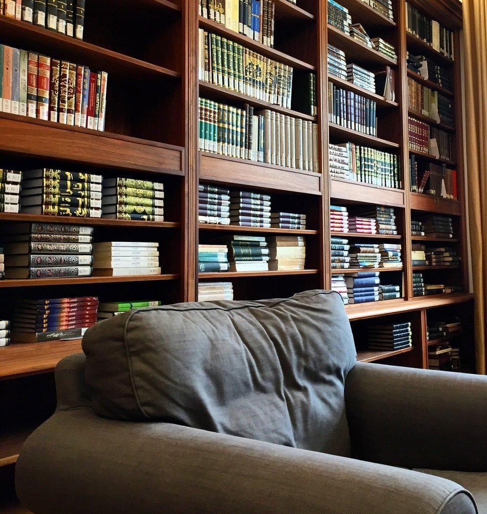 A view inside the library of the Annemarie Schimmel Mamluk Kolleg, Bonn, Germany.