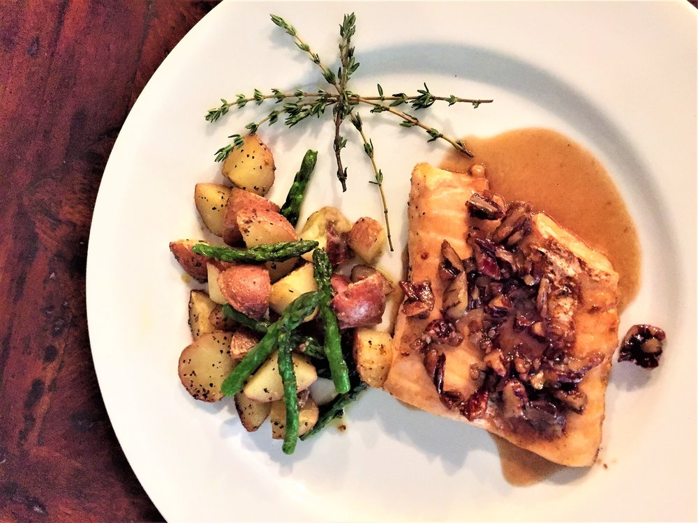 Maple Glazed Salmon with Roasted Vegetables