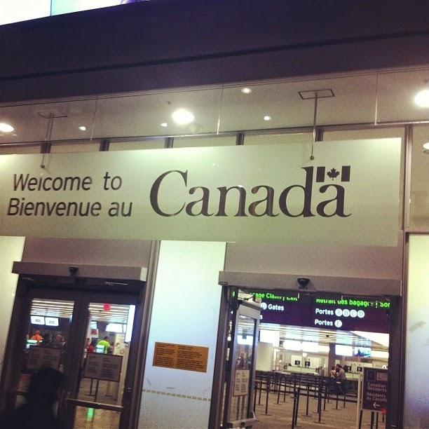 Bem vindo ao Canadá