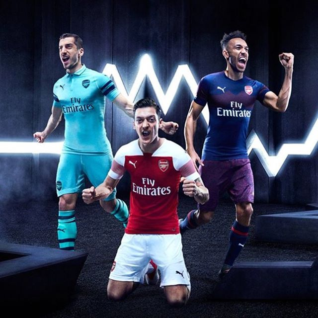 2018/19 kits. Thoughts? .... · · · · · · · #arsenal #afc #arsenalfc #gooners #gunners #london #northlondon #northlondonisred #emirates #football #soccer #premierleague #england #greatbritain #arsenalamerica #thearsenal #arsenalfans #wearethearsenal #arsenalfan #arsenaltillidie