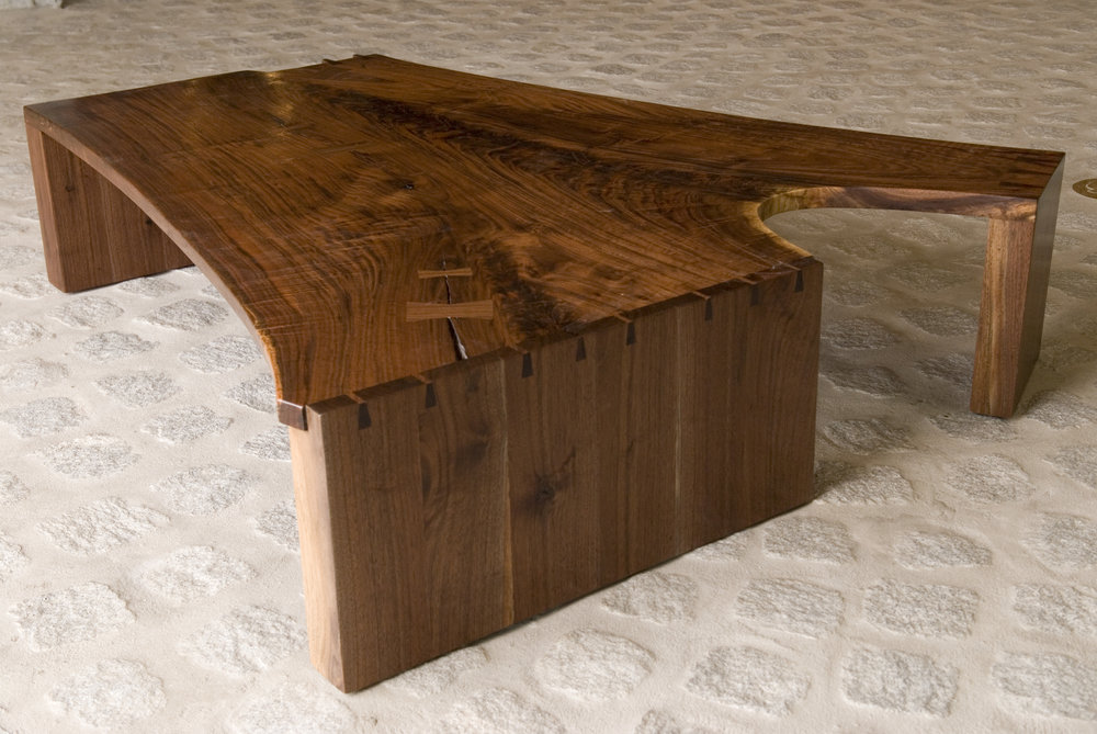 Walnut coffee table, urban timber 54 x 36