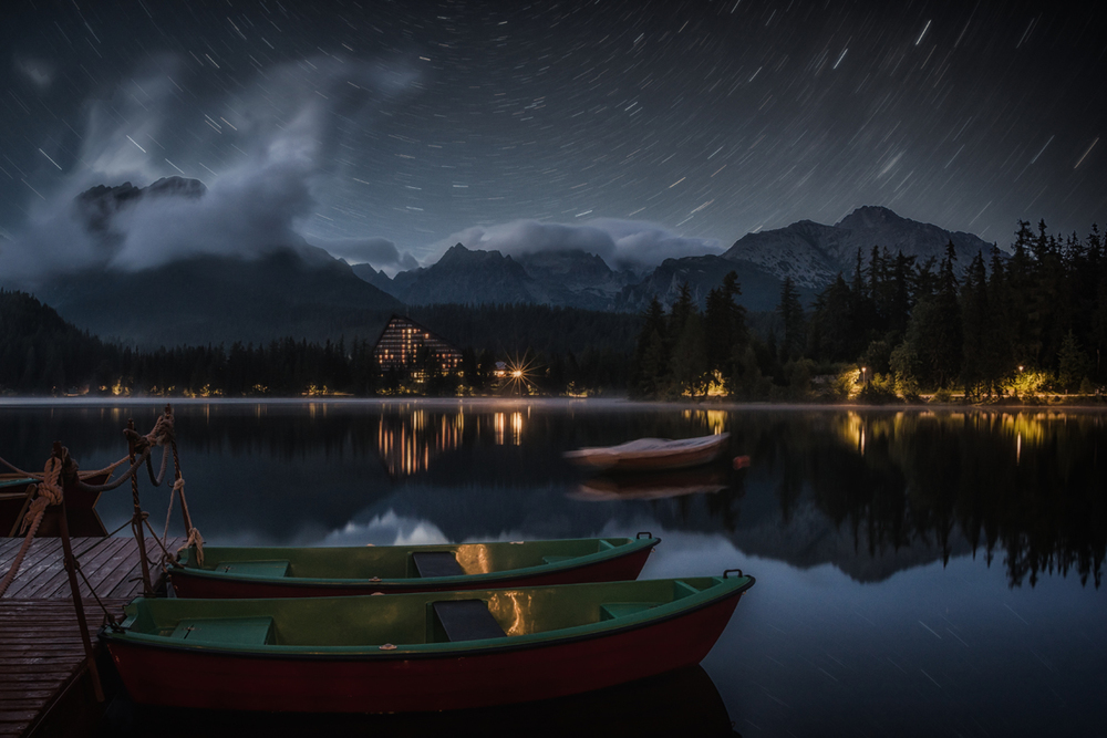 STAR TRAILS AND HIGH TATRAS
