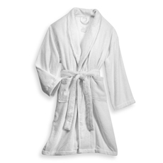 Orla Kiely 100% Cotton White Bath Robe