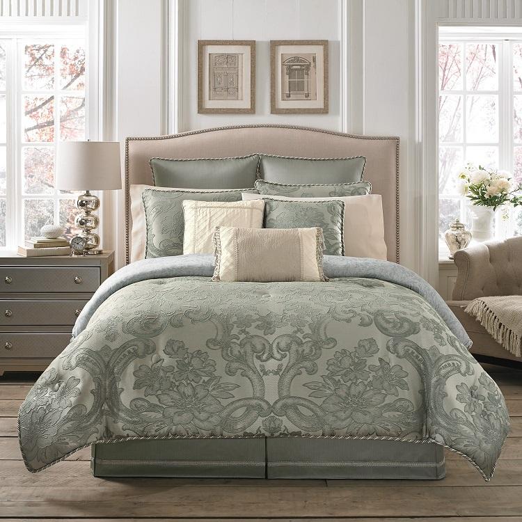 Croscill Abigail Comforter Set, Aqua