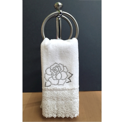 Peradi Rose Studs Fingertip Towels Kuglers Home Fashions