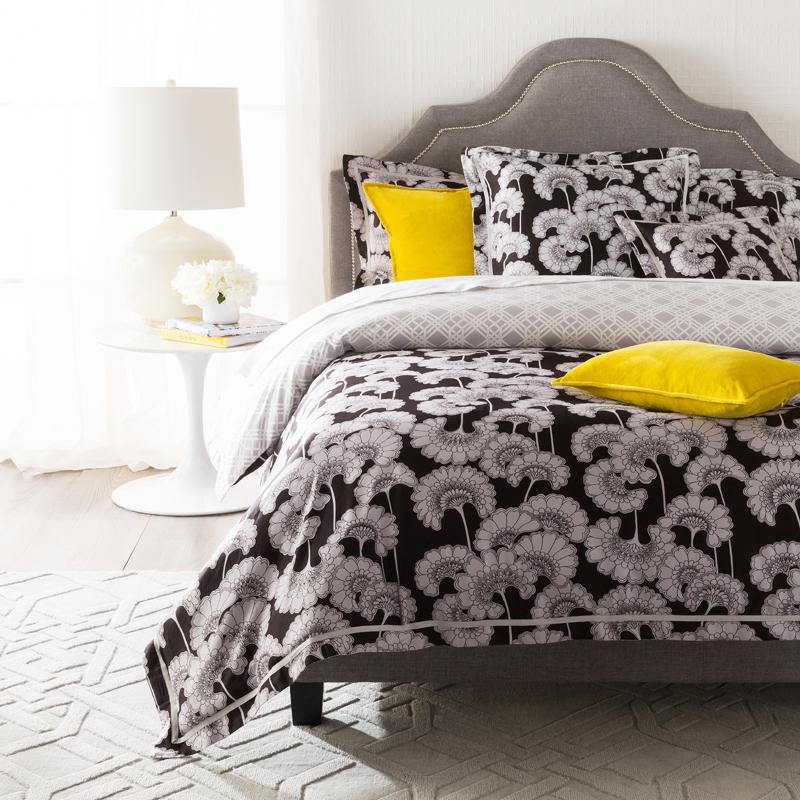 Surya Japanese Floral Duvet Cover Black Kugler S Home