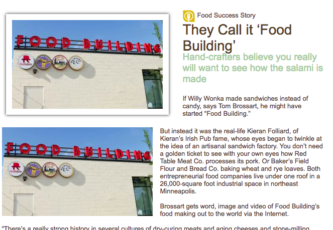AURI: They Call it FOOD BUILDING