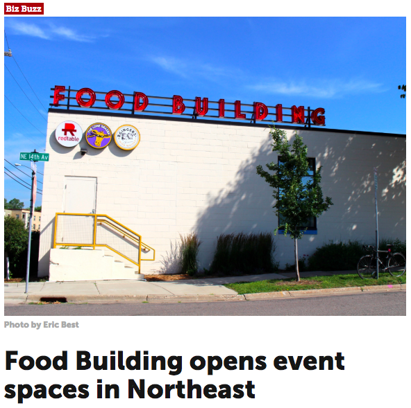 The Journal: FOOD BUILDING Opens Event Space