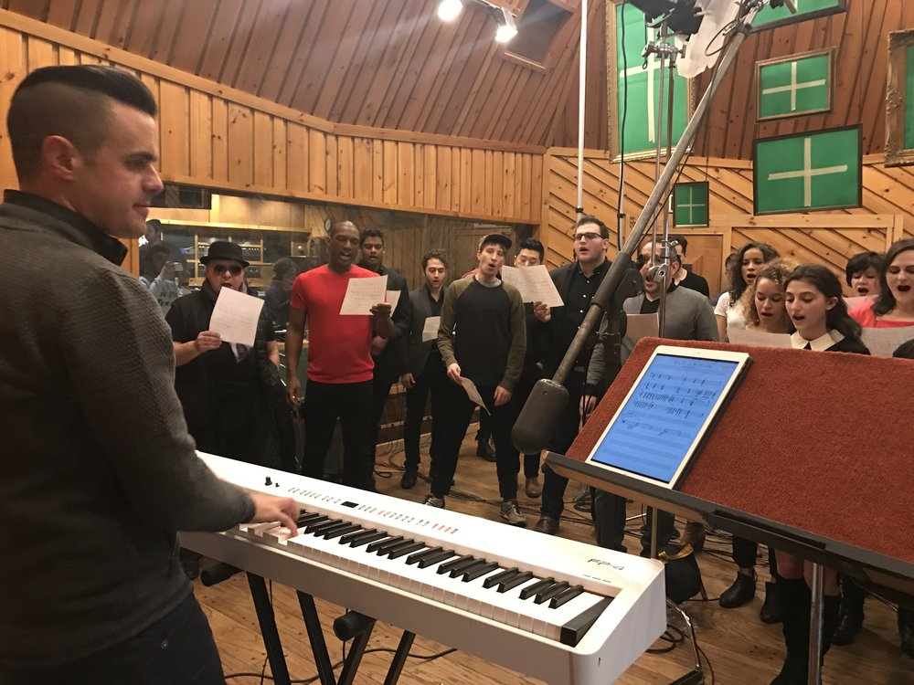 Michael J Moritz Jr recording at Avatar Studios
