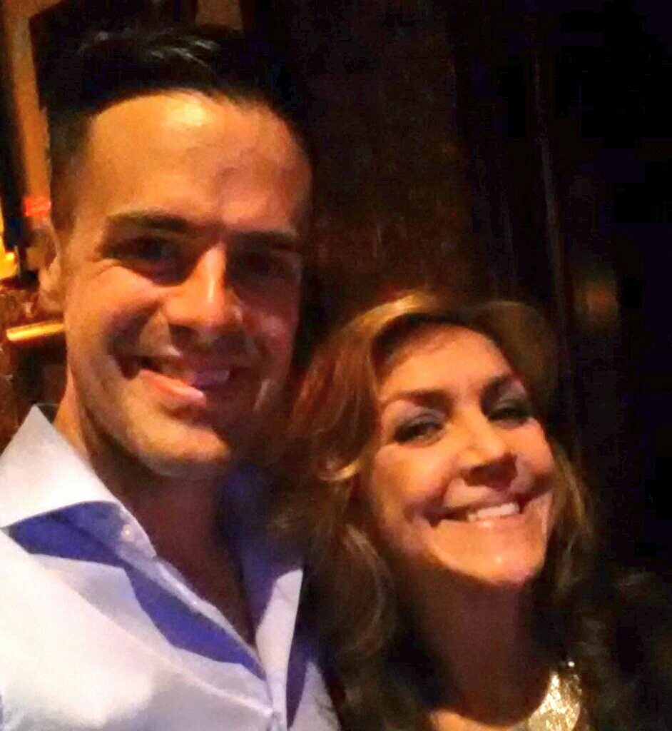 Michael J Moritz Jr with Andrea McArdle