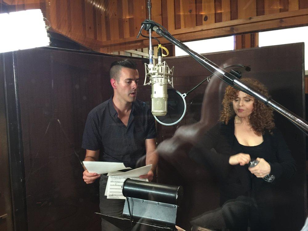 Michael J Moritz Jr and Bernadette Peters