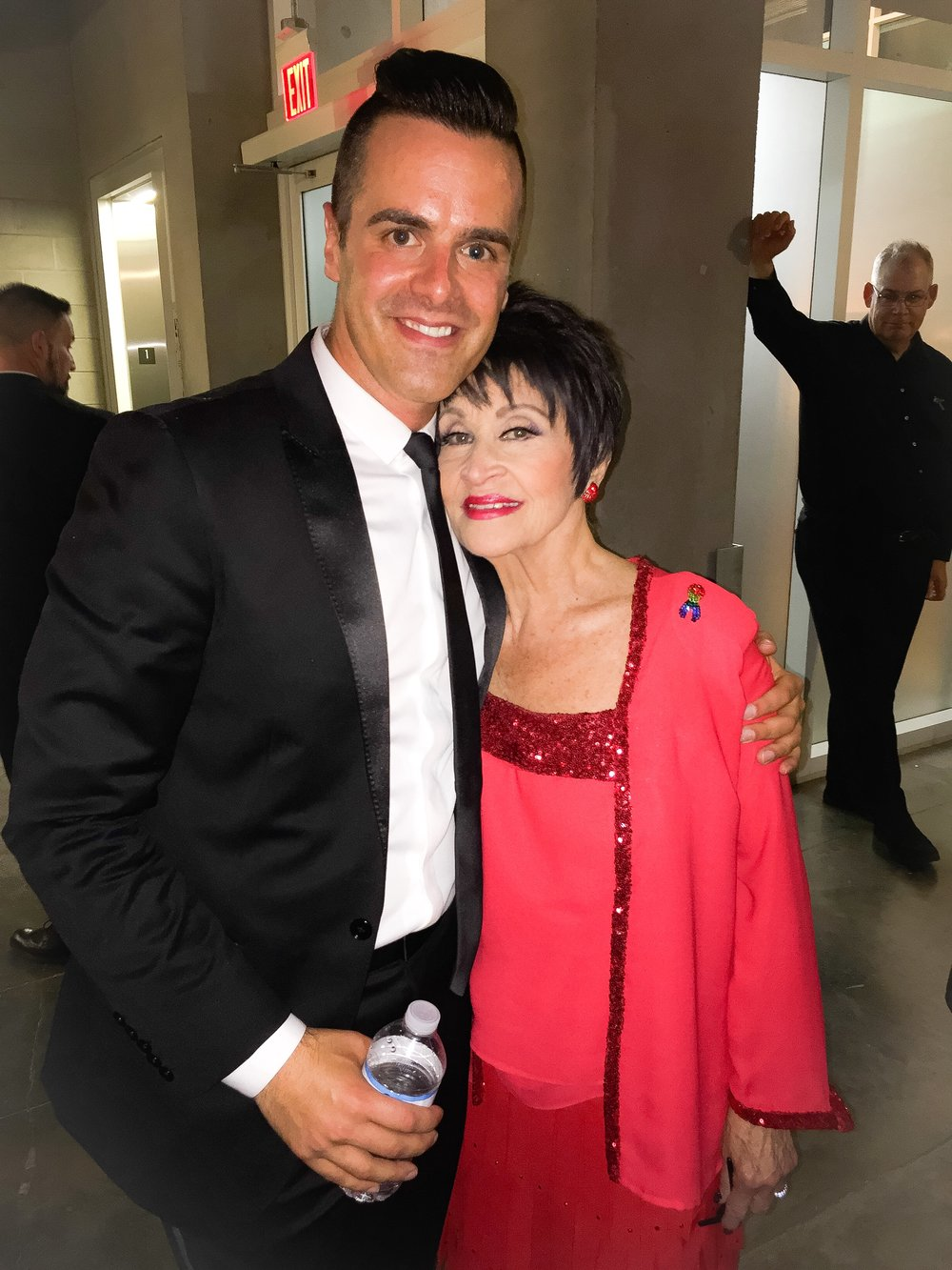 Michael J Moritz Jr with Chita Rivera